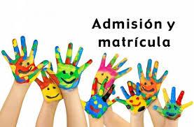 Resultado de imagen de admisión y matrícula